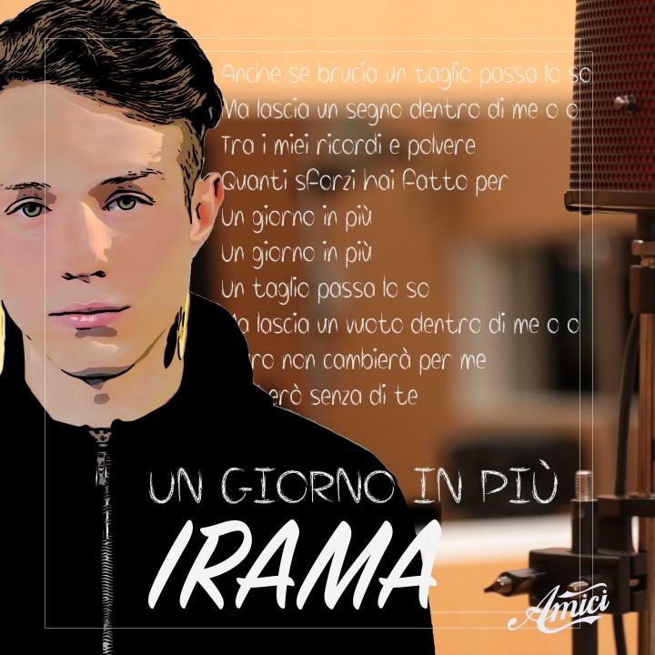"""Testo dell'inedito di Irama """"Un giorno in più"""""""