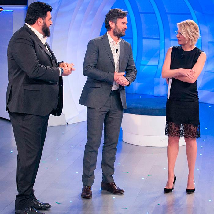 Gerry Scotti, Carlo Cracco e Antonino Cannavacciuolo a C'è Posta per Te