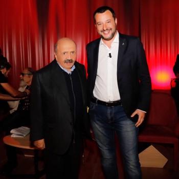 Matteo Salvini ospite della quarta puntata del Maurizio Costanzo Show