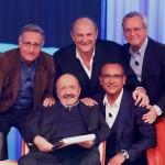 Enrico Mentana, Paolo Bonolis, Carlo Conti e Gerry Scotti